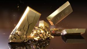 Daling goudprijs