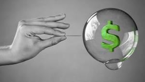 Zeepbellen en bubbels knappen
