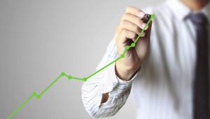 Stijging van de aandelenmarkt