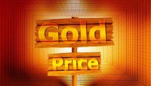 Goudprijs op bordje
