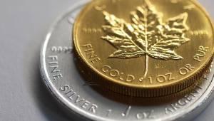 goud en zilver munt