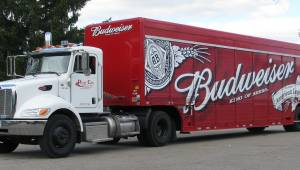 Vrachtwagen Budweiser