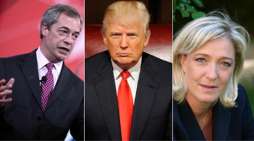 Farage Trump Le Pen
