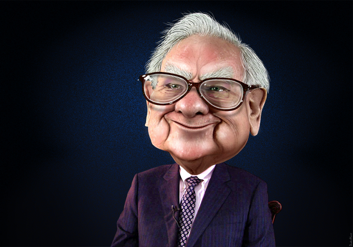 Warren Buffett karikatuur