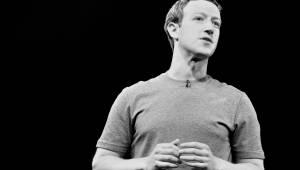 Mark Zuckerberg zwart wit