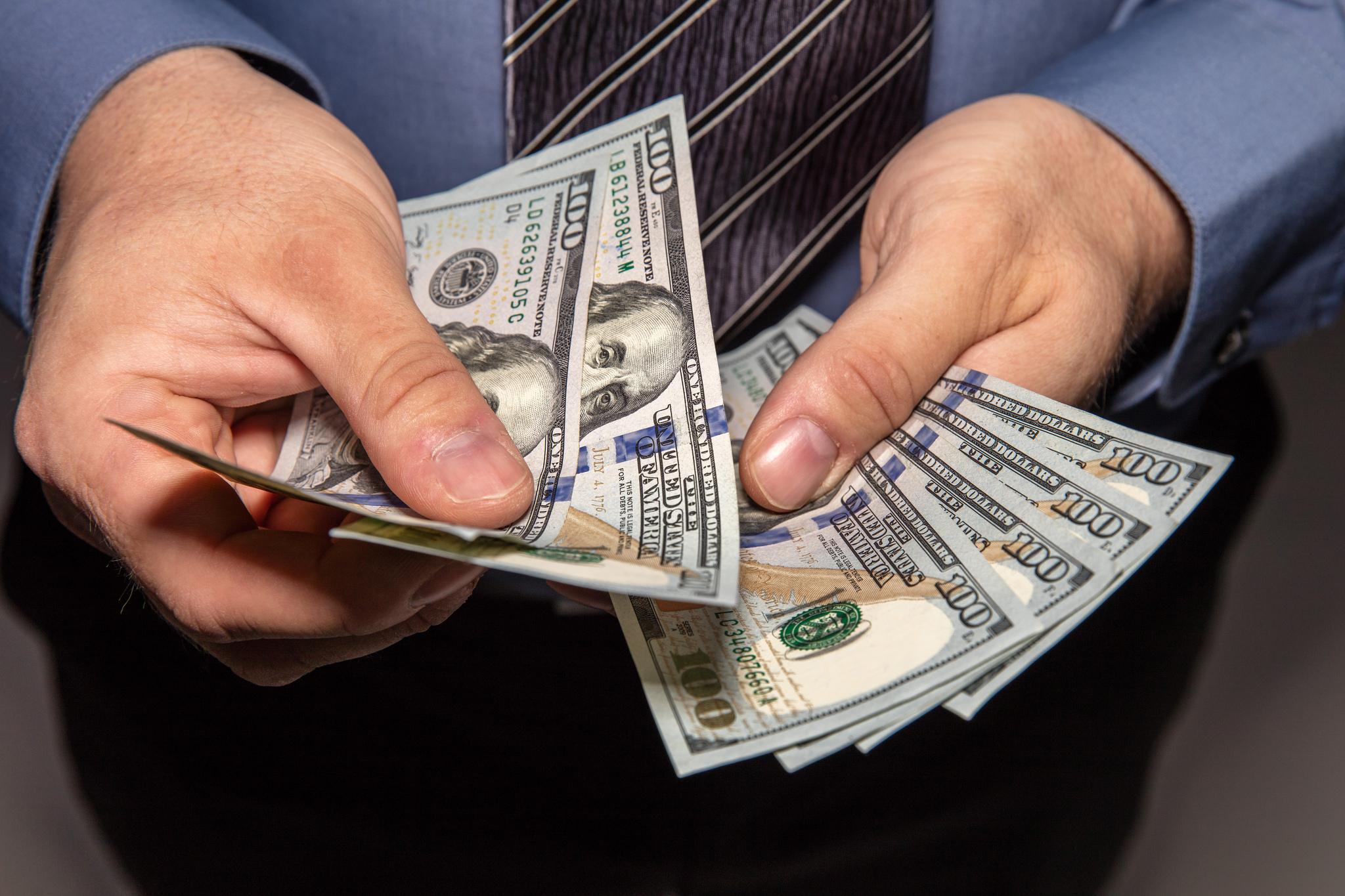 Geld tellen rijk worden